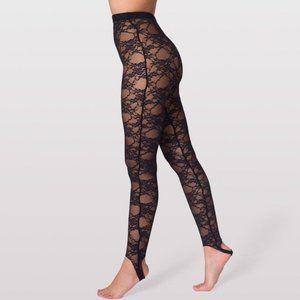 American Apparel Floral Lace Stirrup Leggings